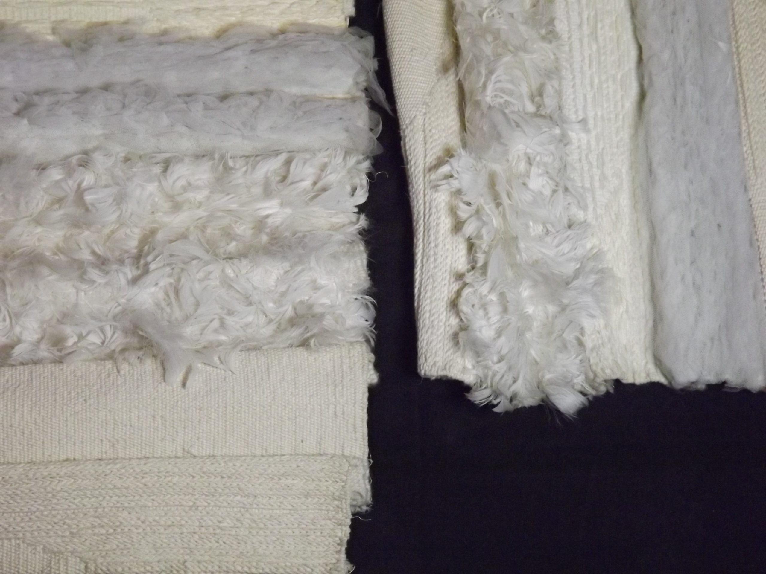Créations textiles : cadences plumes tulles coton (Véronique Fuchs-Sublon)