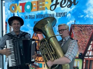 Octoberfest Concert with Howard Kantarowski & Ed Kornhaouser : Terminal 2 West, Sunset Cove (Post-Security) @ San Diego International Airport