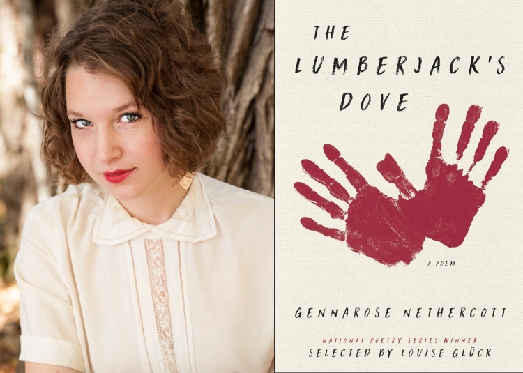 GennaRose Nethercott, cover art for THE LUMBERJACK'S DOVE (HaperCollins 2018).