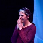 Melinda Lopez (Dramatic Writing Fellow '19, '03) performing in the autobiographical play MALA at the Calderwood Pavilion, photo by Paul Marcotta. A broadcast version of the play is on GBH 2 this month.