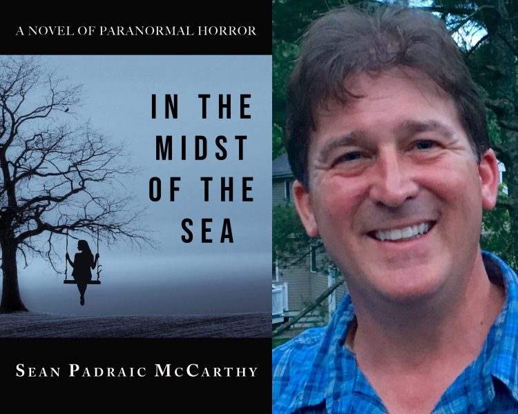 Cover art for IN THE MIDST OF THE SEA (Pace Press May 2019); Sean Padraic McCarthy.
