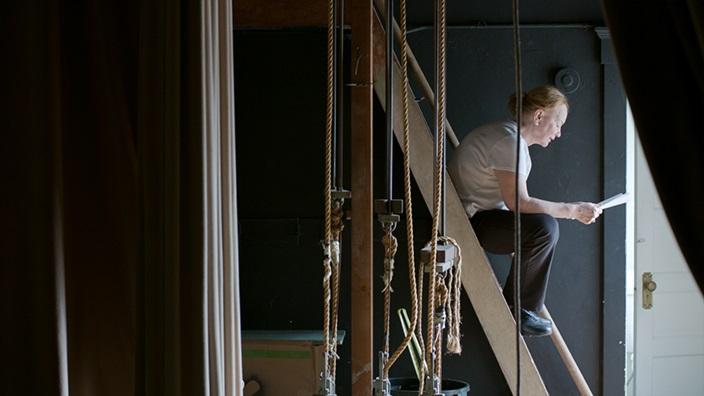 Still from LE SURVIVANT, a film-in-progress by Jessica Hankey (Film & Video Fellow '19).