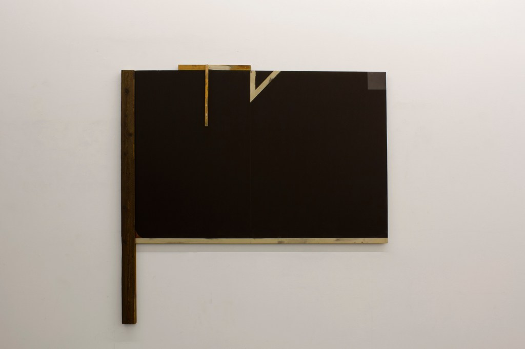 Jesús Matheus, CRAN CONSTRUCTION (2017), oil on canvas, painted wood, 72.75x74.75x3 in.