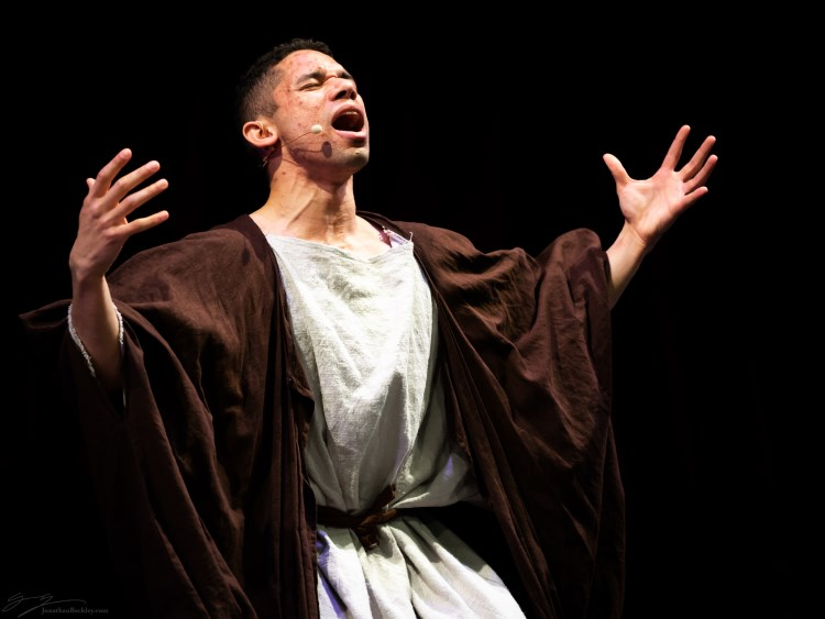 From BELOVED KING by Jade Sylvan, a performance of which was funded by Cambridge Arts in 2019, featuring Felton Sparks as David, photo by Jonathan Beckley.