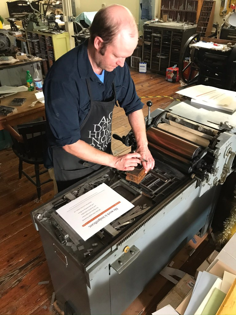 Jesse Marsolais at work, photo by Maggie Holtzberg.