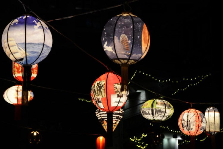 From Yu-Wen Wu's (Painting Fellow '04) has a public art installation, Lantern Stories, commissioned by the Rose Kennedy Greenway Conservancy and on view at Chin Park in Boston's Chinatown (thru 11/19).