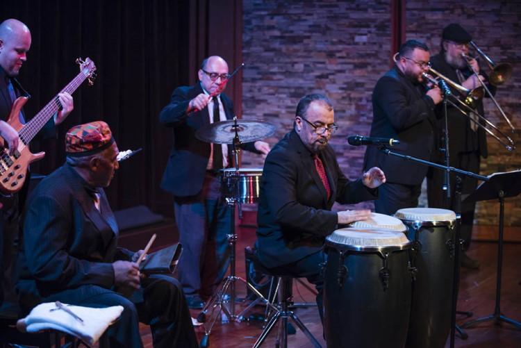 Latin Logic Salsa Band performs at a Mass Cultural Council folk arts showcase in 2018. Photo: Matthew Muise.