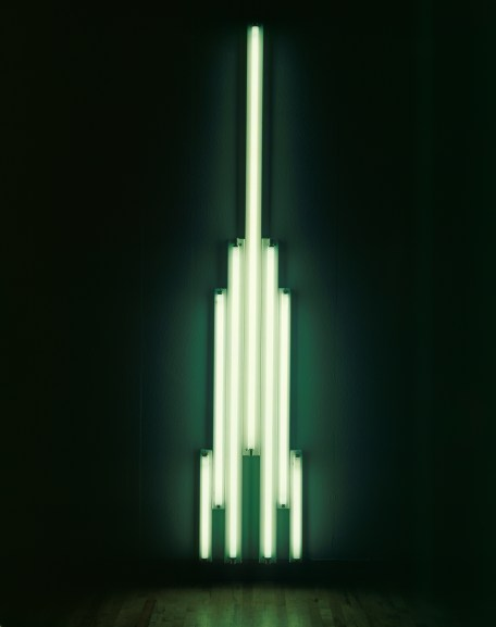 Dan Flavin 'Monument' for V. Tatlin 1966–9 Fluorescent tubes and metal 305.4 × 58.4 × 8.9 cm © 2014 Stephen Flavin / Artists Rights Society (ARS), New York Courtesy Tate Collection: Purchased 1971