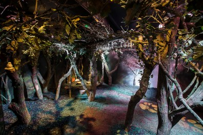 Interiors of the 'Michael Rosen's Bear Hunt, Chocolate Cake and Bad Things' exhibition at Discover Children's Story Centre. Photo credit : ANDREW BAKER Andrew Baker 07977074356