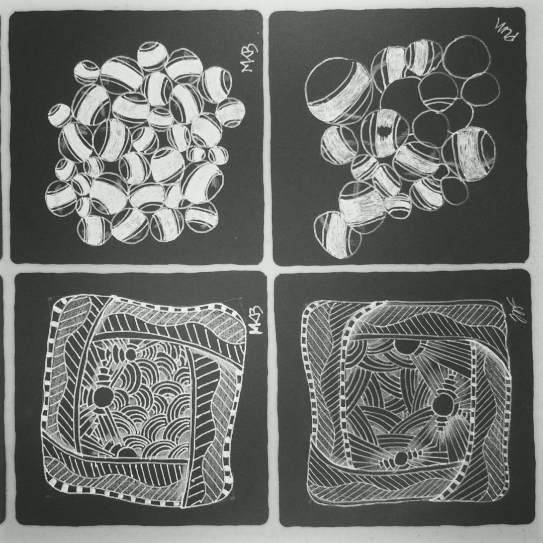 Zentangle® playing with black and white
