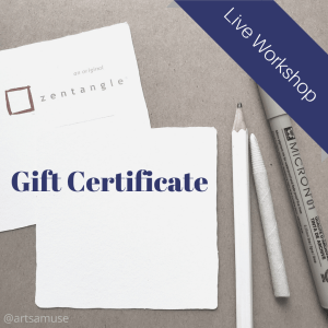 workshop gift certificate by artsamuse
