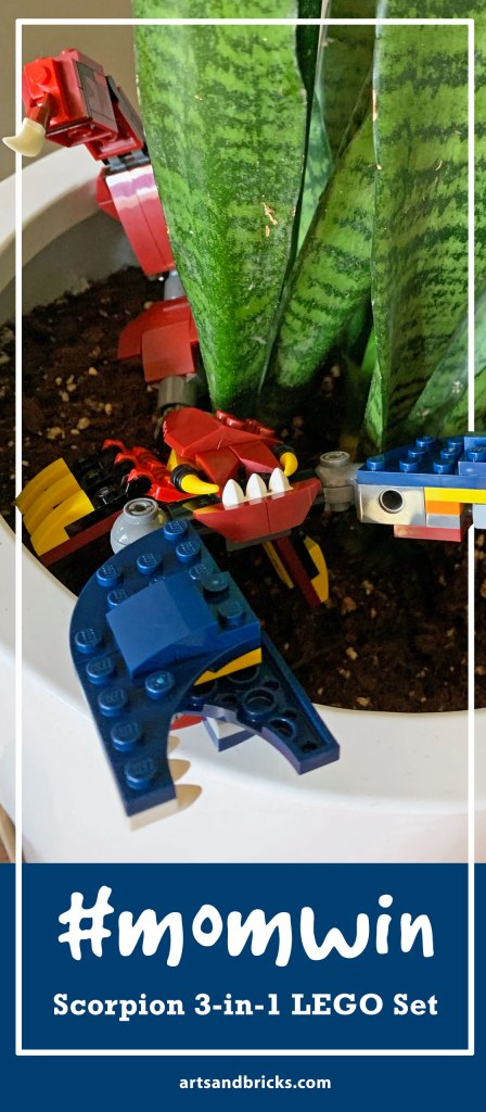 Looking for a LEGO set Mom Win? We think the Lego Set 3112 Fire Dragon, Scorpion and Saber-Tooth Tiger build is just the set. Affordable and has hours of fun because there are 3 distinct builds. #lego #kidreview #review #scorpion #tiger #dragon #legogift