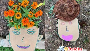 Cardboard Self-Portraits with Nature Hair - Kid Craft Blog