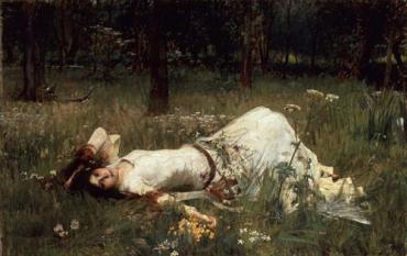 John William Waterhouse, Ophelia (1889)