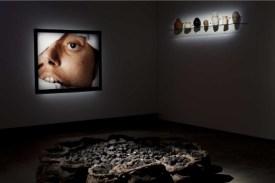 Vue de l'exposition Théâtre du Monde à la Maison Rouge _ Andres Serrano, The Morgue (Blood Transfusion Resulting In AIDS) , 1992; Kounelis