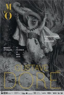 Affiche Gustave Doré L'imaginaire au Pouvoir. Exposition Musée d'Orsay. 2014