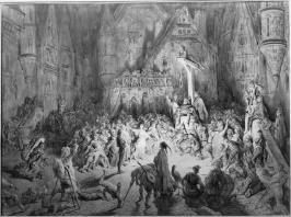 Gustave Doré, La Cour des Miracles, 1859