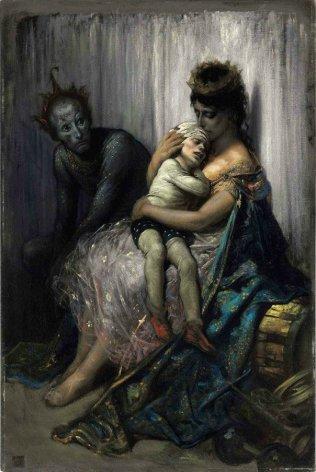 Gustave Doré, La Famille de Saltimbanques ou L'Enfant Blessé, 1873