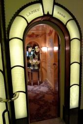 The art deco ladies room