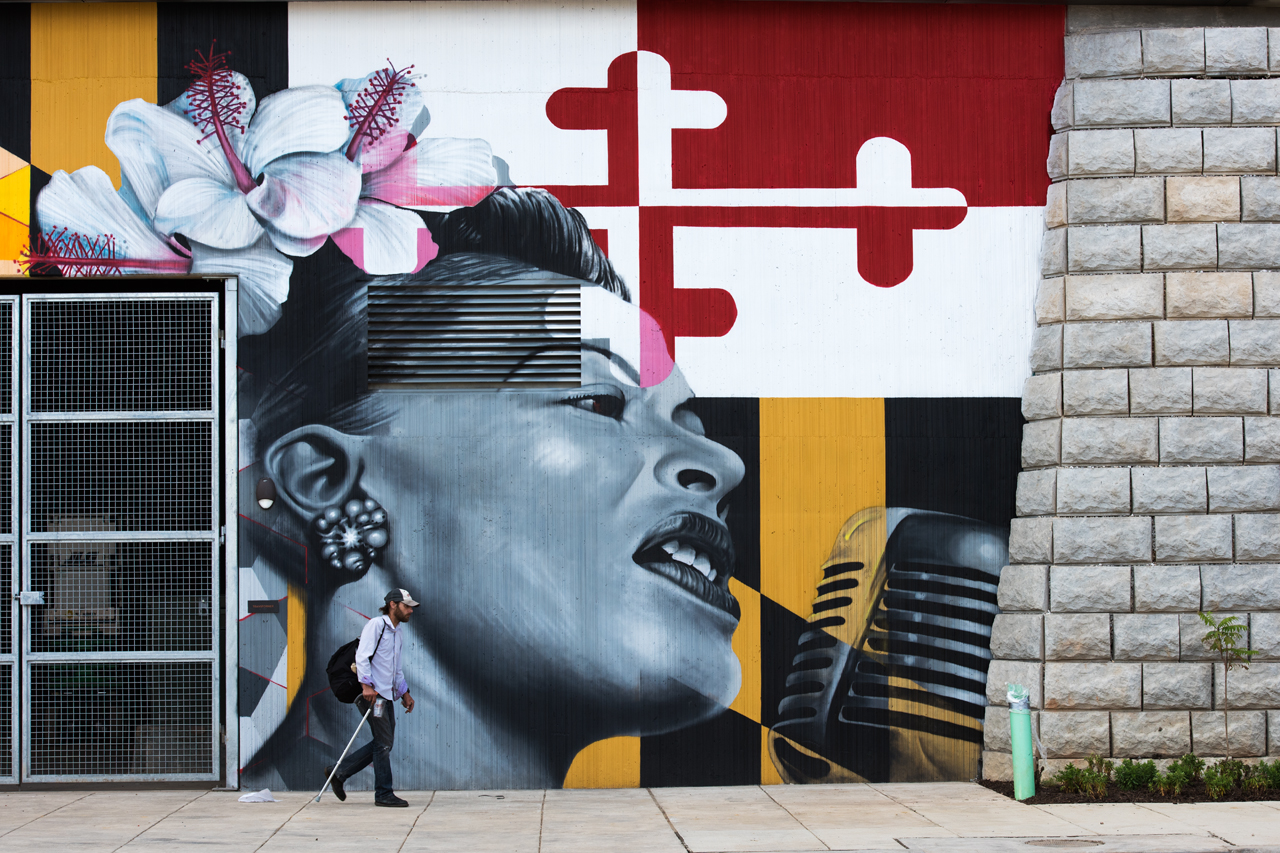 Billie Holiday - mural by Jeff Huntington