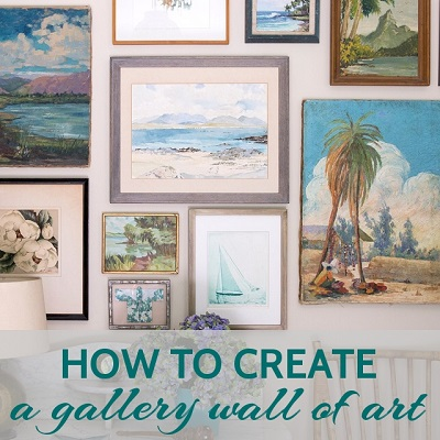 gallery wall & How to Create a Gallery Wall of Art - Arts and Homes by Anna Hackathorn