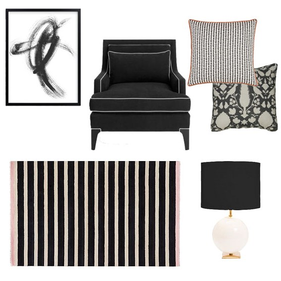 get the look home furnishings in black white arts and homes by