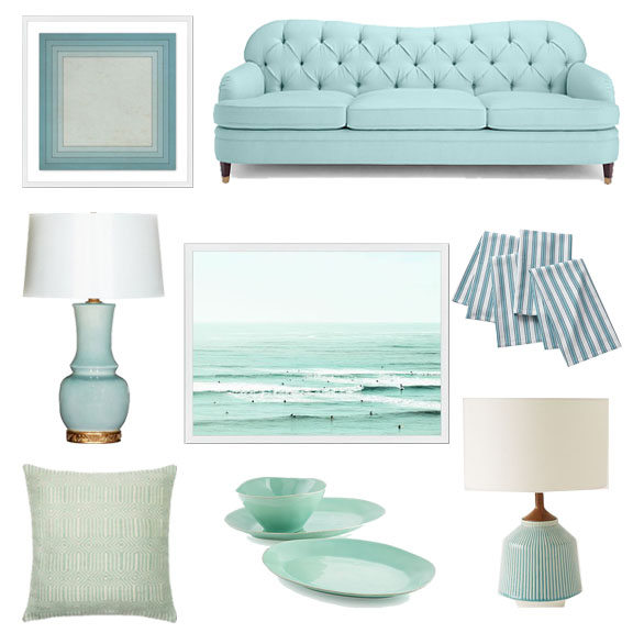 Interior Design, Aqua Home Decor