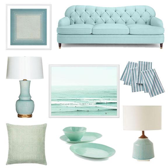 Interior Design, Aqua Home Decor