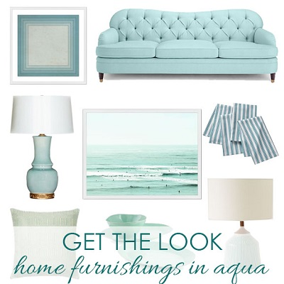 Home Furnishings in Aqua