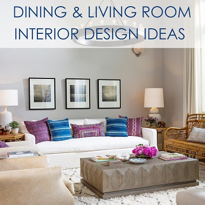 dining & living room interior design