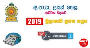 Advanced Level Economics 2019 Prototype Paper
