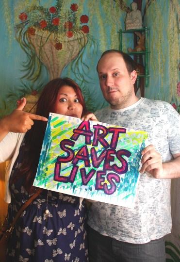 Lesley and John - Art Saves Lives