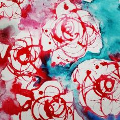 Roses Swirling by Kate Woodley-Smith