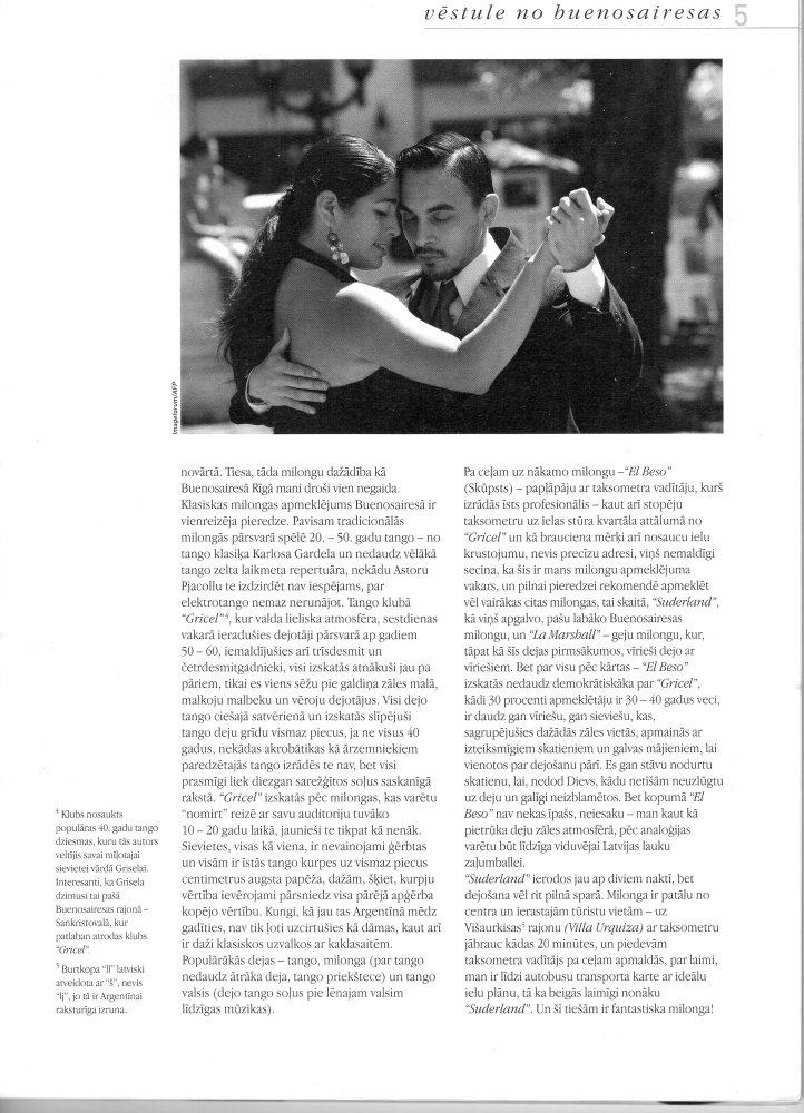 Tango pilsēta: Vēstule no Buenosairesas (2/4)