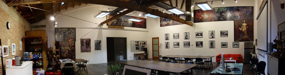 "John Watkiss' ""Millenium Project"" Mural displayed in our Digital Media Room."