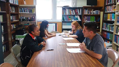 HIspanic Studies Students interviewing