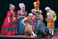 A performance of Cinderella at the theatre.