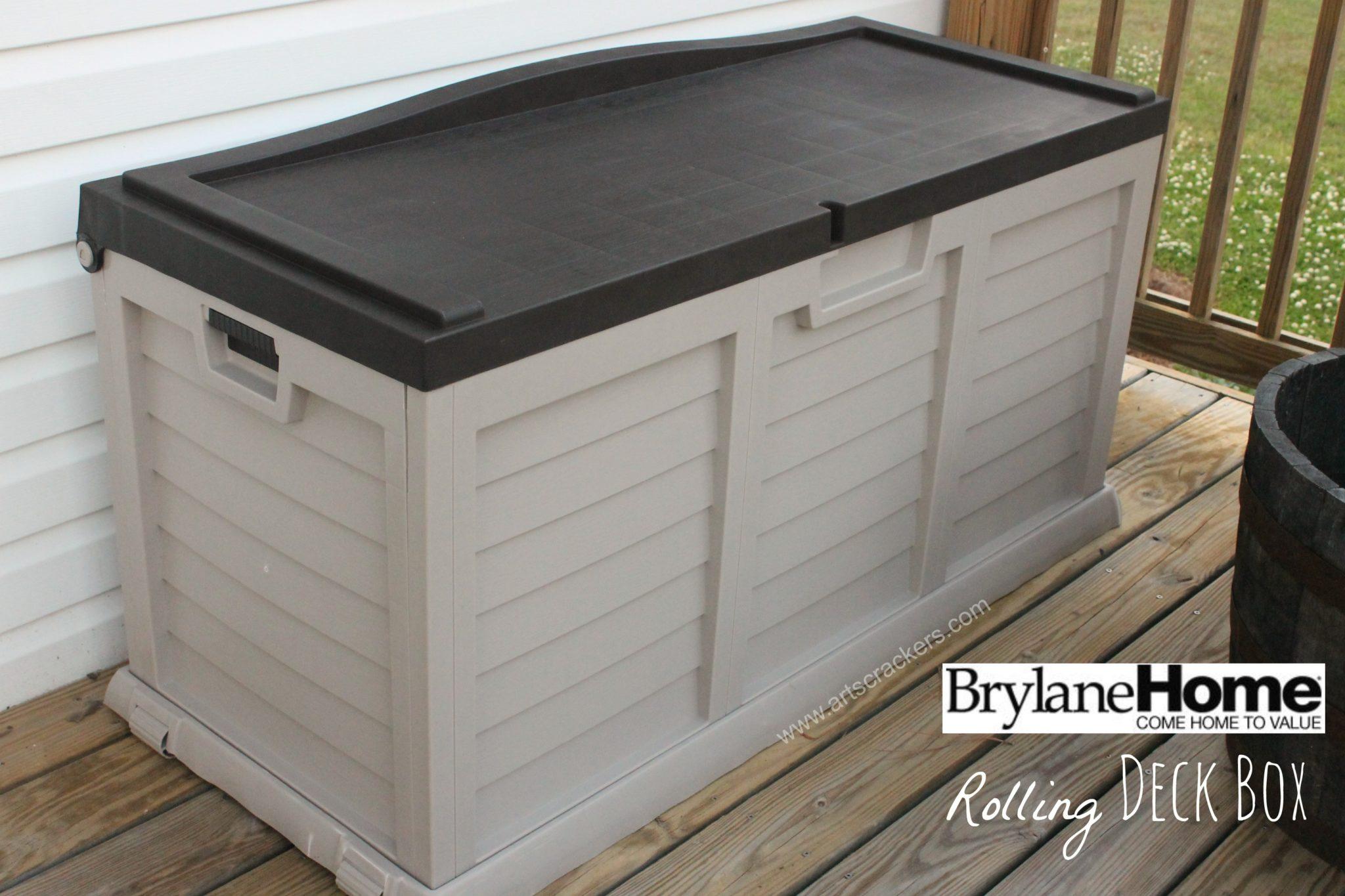 brylanehome rolling deck box