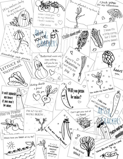 Printable Valentines Color In Seed Packet Designs