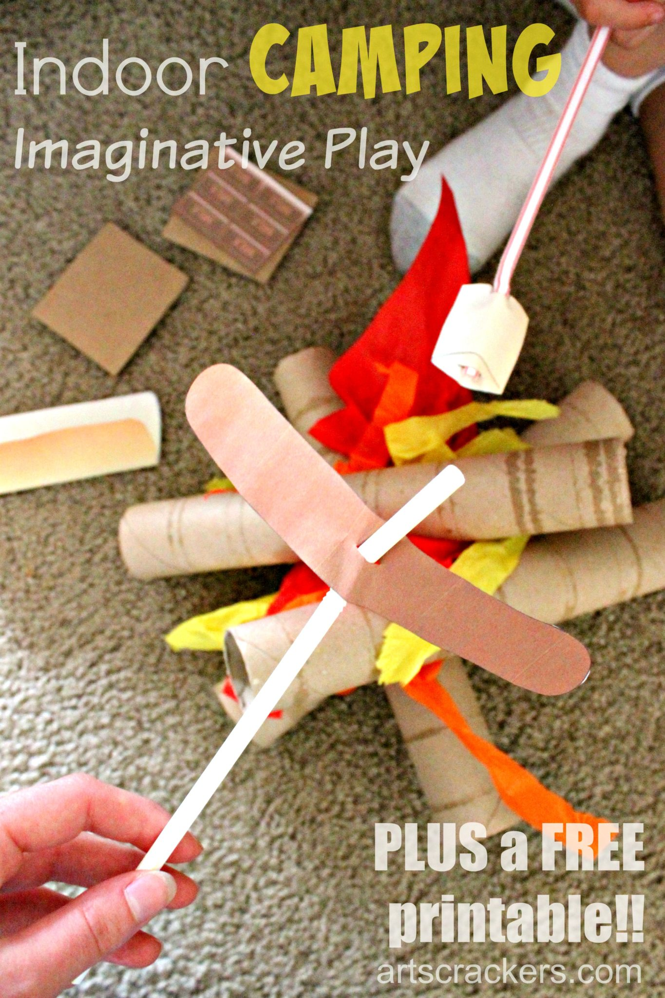 Indoor Camping Imaginative Play And Free Printable