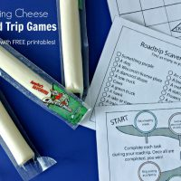 String Cheese Road Trip Games with FREE Printables