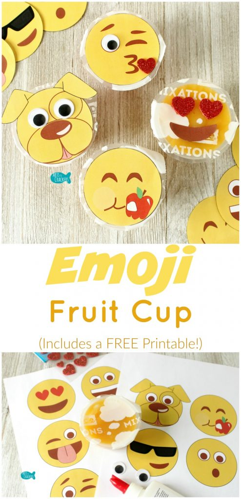 Emoji Fruit Cup Craft Plus A FREE Printable