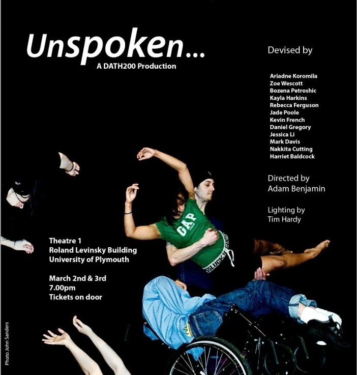 Unspoken – dance performance at Plymouth University