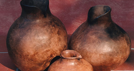Potter and painting partners exhibit together at Buckfast Abbey