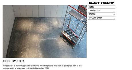 Blast Theory to create RAMM's opening with Ghostwriter