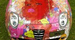 Seductive and colourful Alfa Romeo by Louise Dear of Totnes