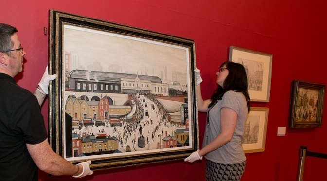 Rare LS Lowry on display for 5 days only prior to £ multi-million pound auction