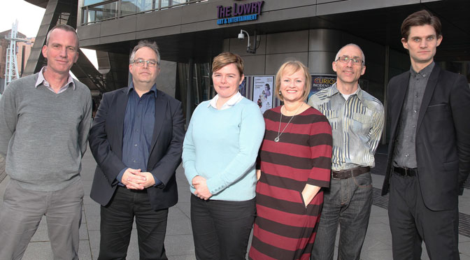 The Lowry team: (Left to right) Steve Cowton, Michael Simpson, Lucy Dusgate, Julia Fawcett OBE, Eckhard Thiemann and Rupert Thomson.