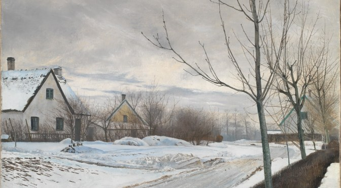 National Gallery acquires Road in the Village of Baldersbrønde (Winter Day) by Laurits Andersen Ring