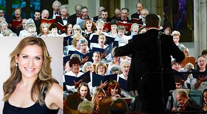 University of Plymouth Choral Society and soprano soloist Anita Watson, who stood in at the very last moment